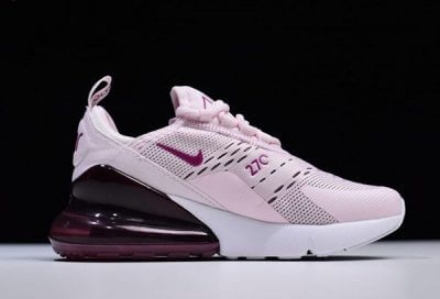 2018 Latest Nike Air Max 270 AH6789-601 Womens Sneakers For Sale Pink White_2